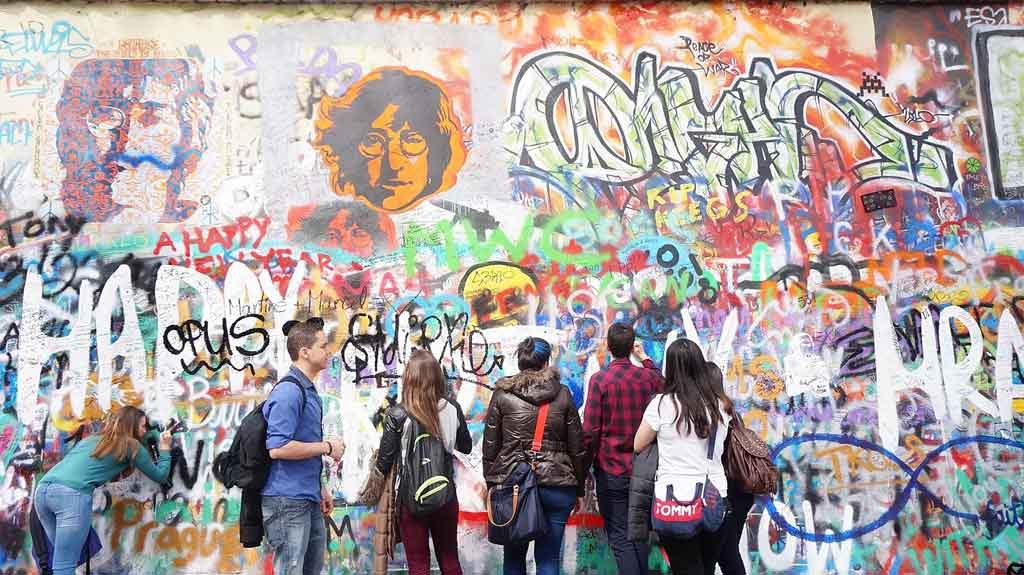 John-Lennon-Mauer, Prag